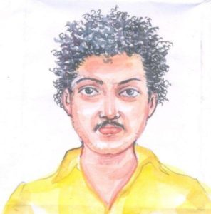 jisha murder- accused pencil sketch